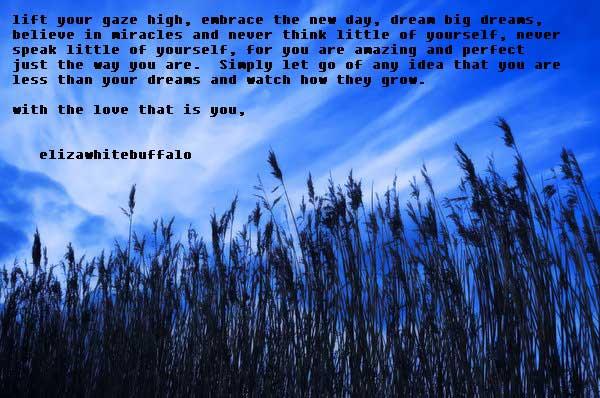 Lift your gaze high