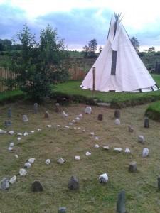 Tipi on the sacred grounds